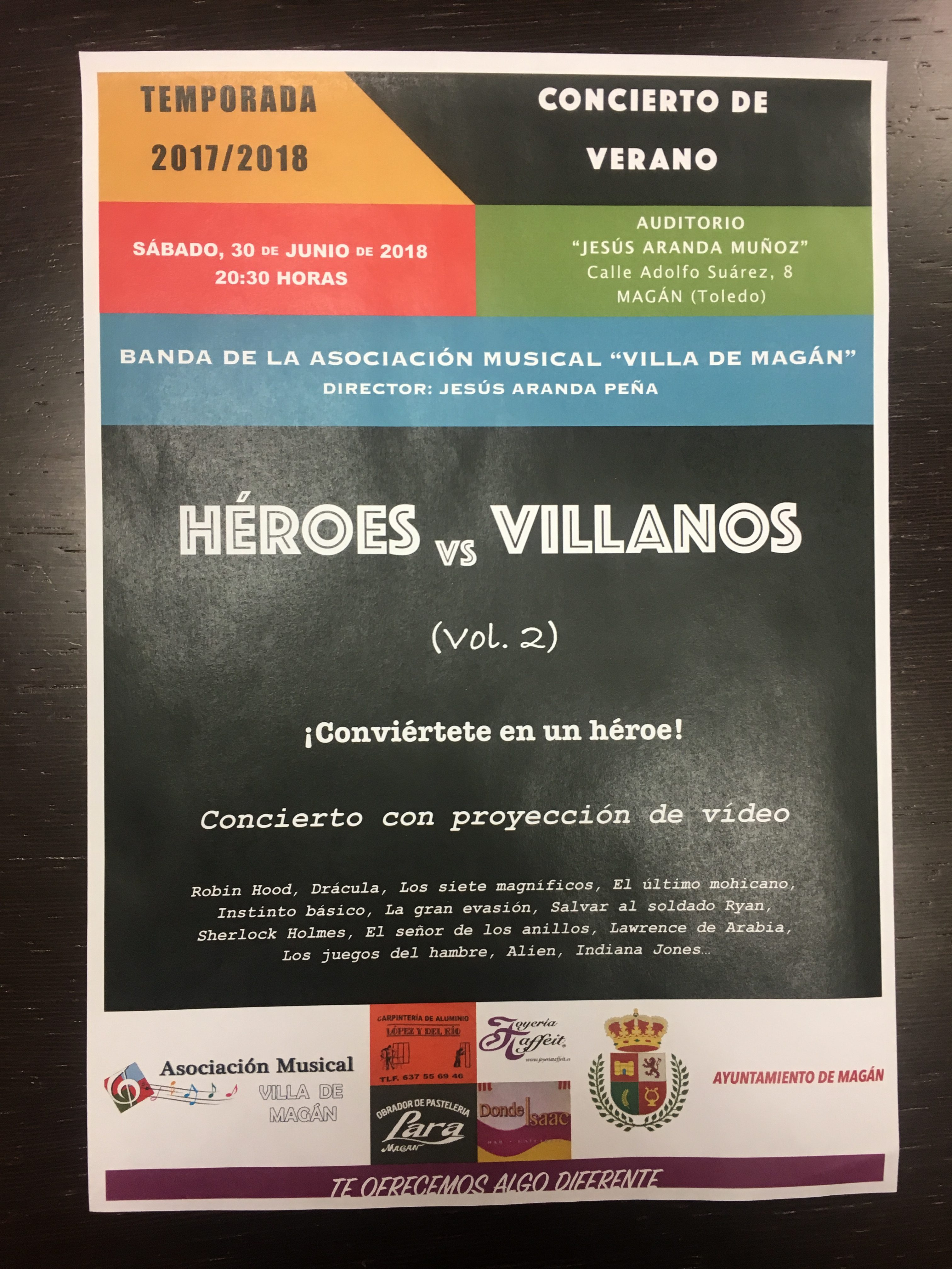 Concierto Verano Heroes y Villanos