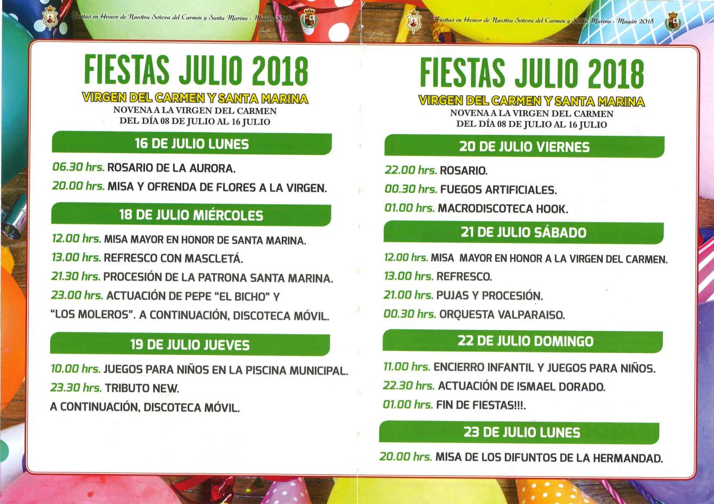 Fiestas Señora del Carmen y Santa Marina 2