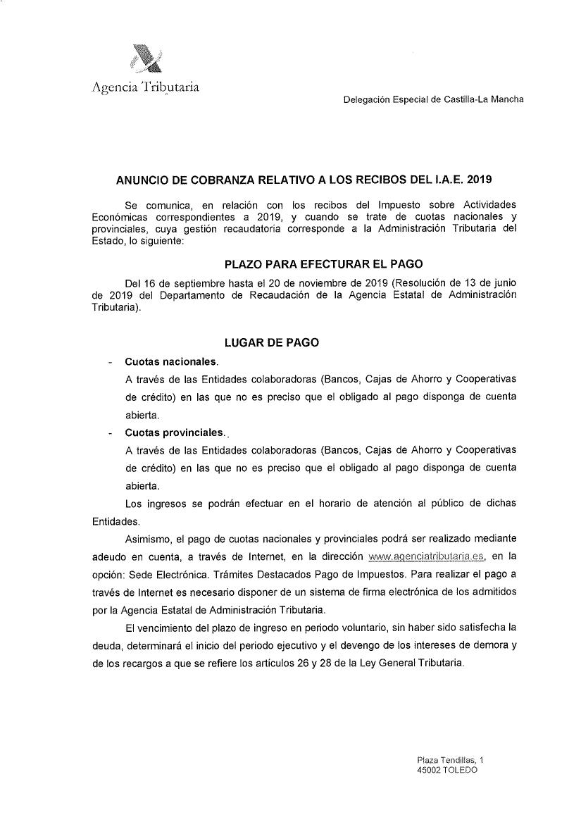 Anuncio IAE 2019
